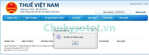 đăng ký nộp thuế điện tử bước 7