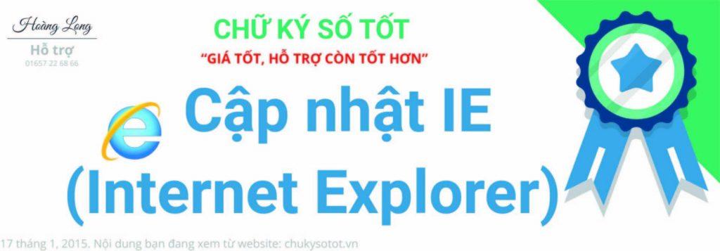 Hướng dẫn nâng cấp Internet Explorer hỗ trợ kê khai Thuế