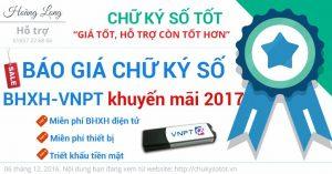 báo giá chữ ký số vnpt-ca, vnpt-bhxh 2017