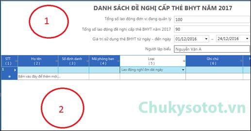 Hướng dẫn gia hạn thẻ BHYT 2017 - Tờ khai DKBHYT 2017